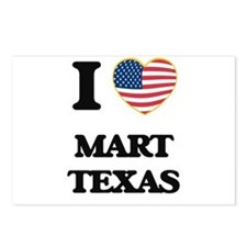 I love Mart Texas Postcards (Package of 8)