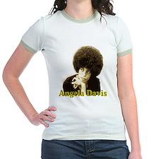 Angela Davis Sepia Retro Jr's Ringer T-Shirt