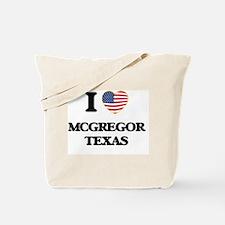 I love Mcgregor Texas Tote Bag