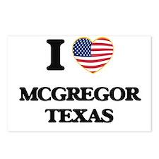 I love Mcgregor Texas Postcards (Package of 8)