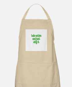 Take action and just Sing it BBQ Apron