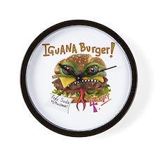 Iguana burger Wall Clock