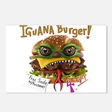 Iguana burger Postcards (Package of 8)