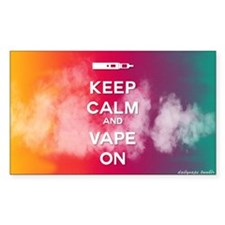 keep calm and vape on rainbow Decal