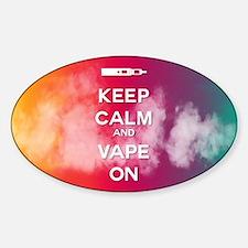 keep calm and vape on rainbow Decal