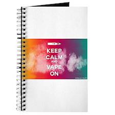 keep calm and vape on rainbow Journal