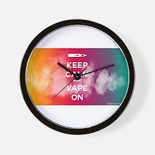 keep calm and vape on rainbow Wall Clock