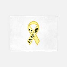 Childhood Cancer 5'x7'Area Rug