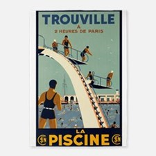 Trouville, France Vintage Travel 5'x7'area