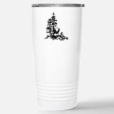 Black White Stag Deer Animal Nature Travel Mug