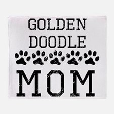 Goldendoodle Mom (Distressed) Throw Blanket