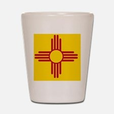 New Mexico State F|lag Shot Glass