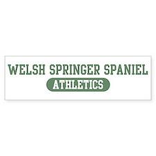 Welsh Springer Spaniel athlet Bumper Bumper Sticker