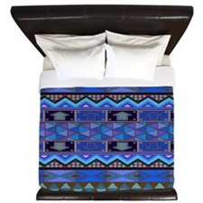 Blue Native King Duvet