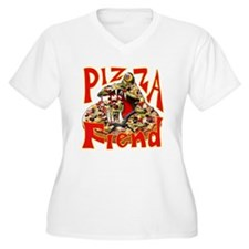 Pizza Fiend Plus Size T-Shirt