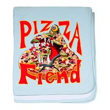 Pizza Fiend baby blanket
