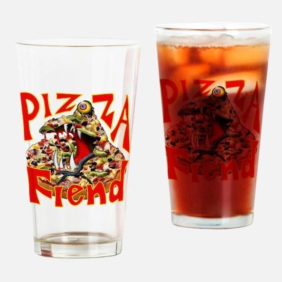 Pizza Fiend Drinking Glass