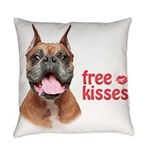 Free Kisses Everyday Pillow
