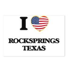 I love Rocksprings Texas Postcards (Package of 8)