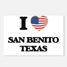 I love San Benito Texas Postcards (Package of 8)