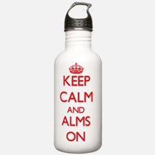 Keep Calm and Alms ON Water Bottle