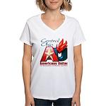 Americans United Ohio Women's V-Neck T-Shirt