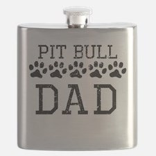 Pit Bull Dad (Distressed) Flask