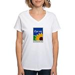 Eye on Gardening TV Women's V-Neck T-Shirt