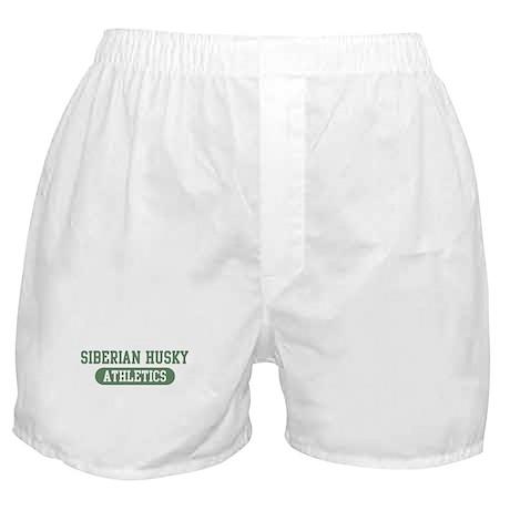 Siberian Husky athletics Boxer Shorts