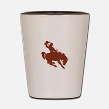 Bronco with Rider Shot Glass