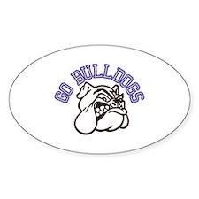 Go Bulldogs (with border) Decal