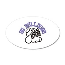 Go Bulldogs (with border) Wall Decal