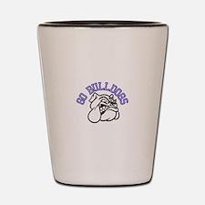 Go Bulldogs (with border) Shot Glass
