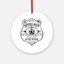 Vintage Pirate Spiced Rum Ornament (Round)
