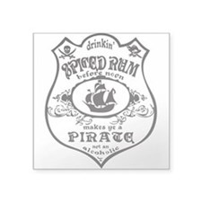 Vintage Pirate Spiced Rum Sticker