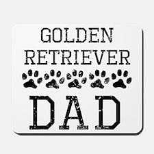 Golden Retriever Dad (Distressed) Mousepad