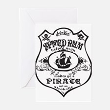 Vintage Pirate Spiced Rum Greeting Cards