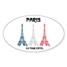 Paris Eiffel Tower Oval Decal