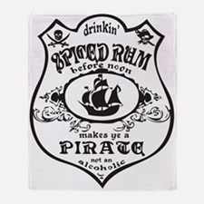 Vintage Pirate Spiced Rum Throw Blanket