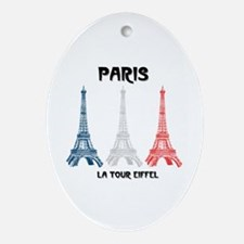 Paris Eiffel Tower Oval Ornament