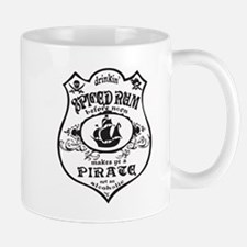 Vintage Pirate Spiced Rum Mugs