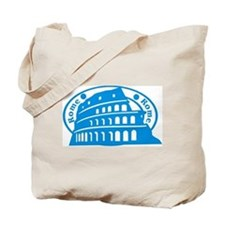 Rome Passport Stamp Tote Bag