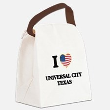 I love Universal City Texas Canvas Lunch Bag