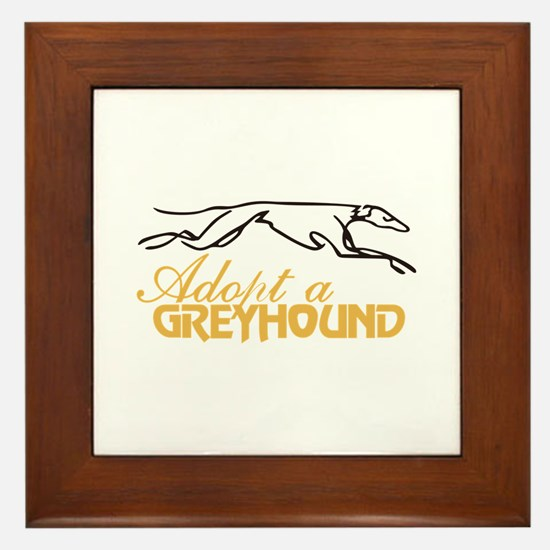 Adopt a Greyhound Framed Tile