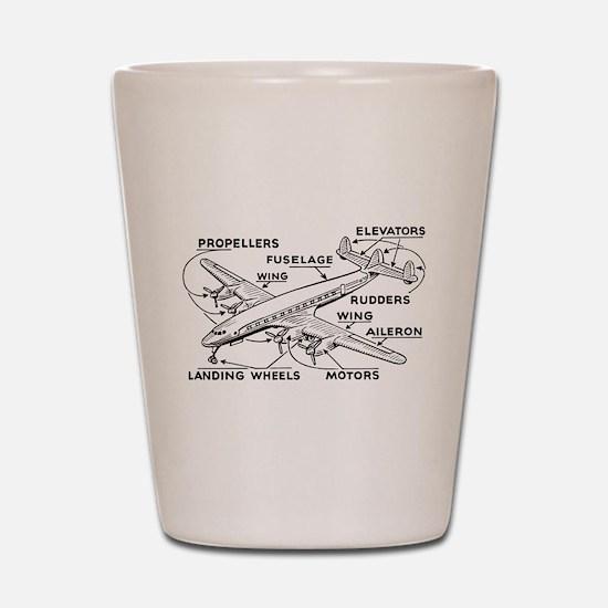 Airplane Shot Glass