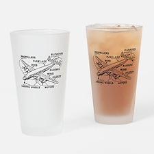 Airplane Drinking Glass