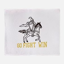 Go Fight Win Throw Blanket