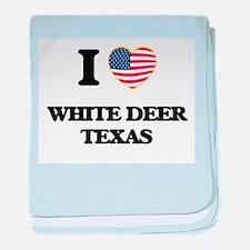 I love White Deer Texas baby blanket