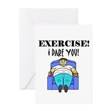 EXERCISE! I DARE YOU! Greeting Card
