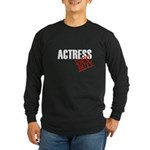 Off Duty Actress Long Sleeve Dark T-Shirt